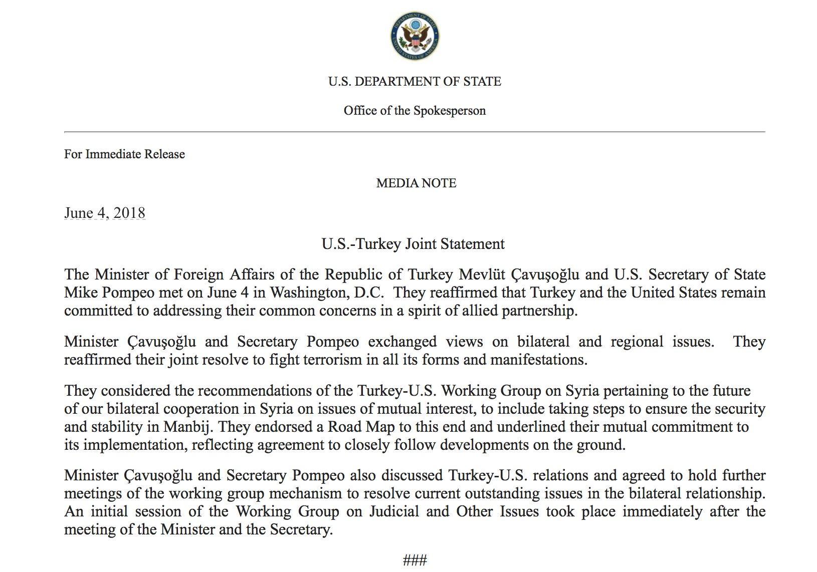 Mesopotamische Gesellschaft Mesopotamia News Joint Us Turkey Meccanism Long Syiria Watch Document